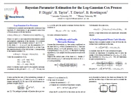 Bayesian Parameter Estimation for the log-Gaussian Cox Process